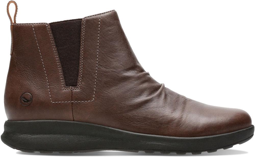 Clarks(クラークス) Un Adorn Mid Dark Brown Leather カジュアル シューズ 26136862 レディース