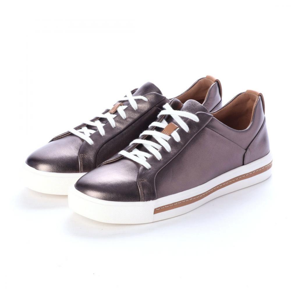クラークス(Clarks) アンマウイレース (ペブルメタリックレザー) レディース レザー スニーカー 靴 シューズ 本革 26140362