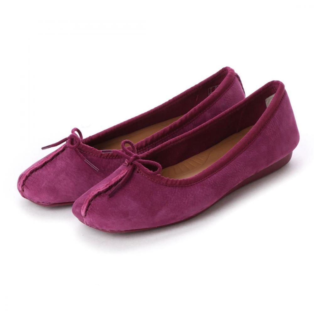 クラークス(Clarks) フレックルアイス (ラズベリーヌバック) レディース フラット パンプス シューズ 靴 26141659