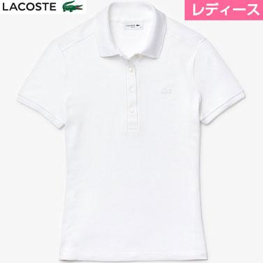 激安 ラコステ LACOSTE ストレッチコットンピケポロシャツ 半袖 レディース PF5462L-001 秀逸