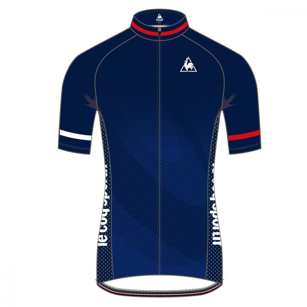 ルコック(le coq sportif) エアロジャージ / Aero Short Sleeve Jersey QCMNGA53-NVY メンズ サイクリング