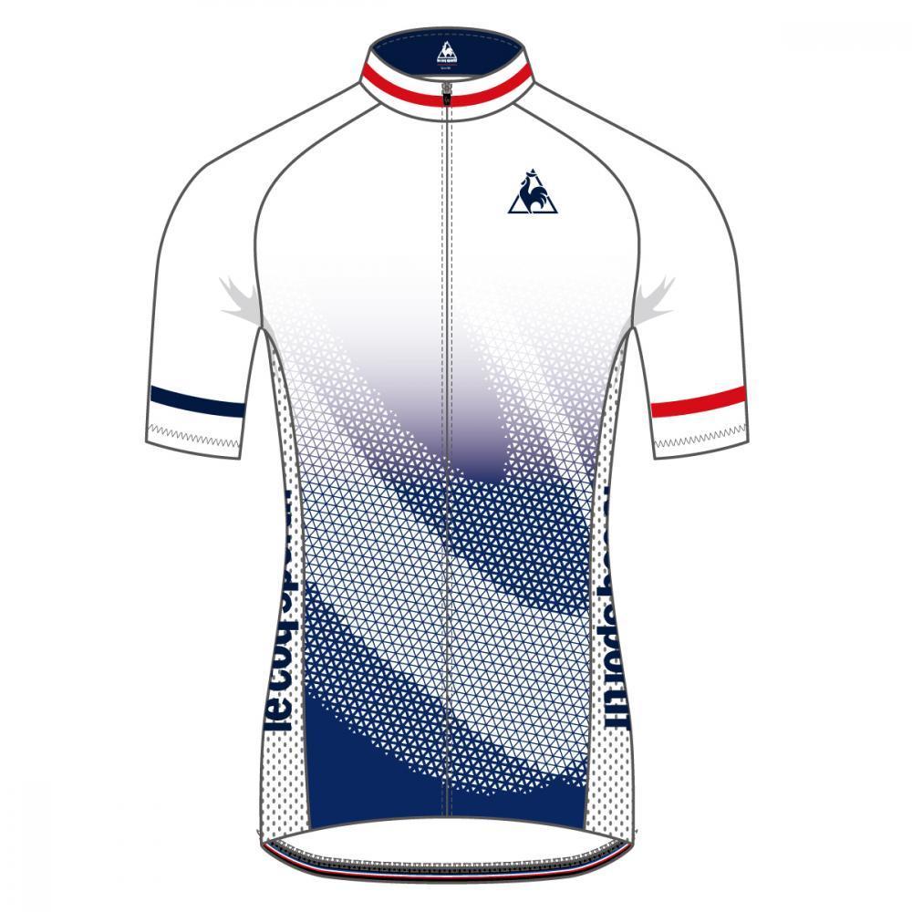 ルコック(le coq sportif) エアロジャージ / Aero Short Sleeve Jersey QCMNGA53-WHT メンズ サイクリング