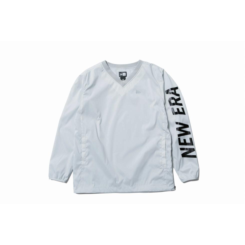 ニューエラ(NEW ERA) 【ゴルフ】 ウィンド プルオーバー ジャケット ライトグレー × ブラック 11900253 メンズ
