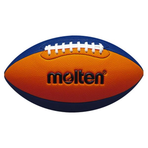 《週末限定タイムセール》 モルテン molten フラッグフットボールジュニア オレンジ×ブルー ラグビー ボール アメフト ボーイズ 期間限定 ジュニア Q4C2500OB