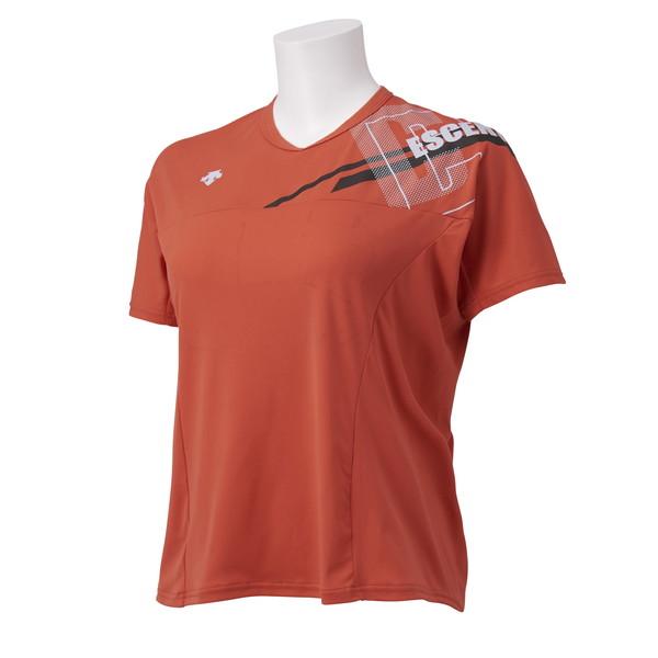DESCENT デサント 半袖プラクティスシャツ DVWSJA50-OR 安心と信頼 バーゲンセール バレー レディース