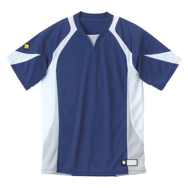 上等 定番から日本未入荷 DESCENT デサント セカンダリーシャツ DB113-NVWH DB-113