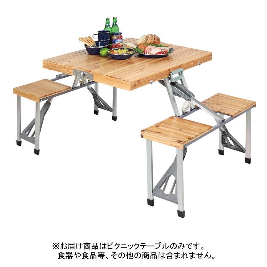 CAPTAINSTAG(キャプテンスタッグ) UC-3NEWシダー杉製ピクニックテーブル(ナチュラル) [ UC0003 ]