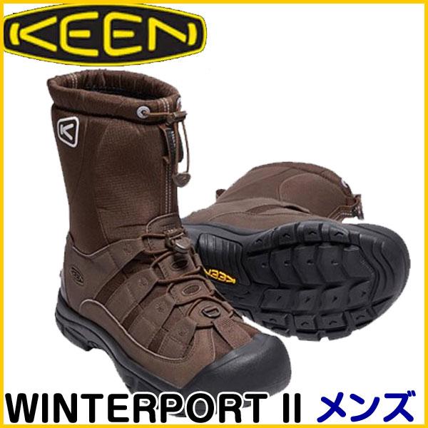 【処分セール】訳あり35%OFF!在庫限り!キーン(KEEN) WINTERPORT II メンズ DEMITASSE/SLATE BLACK 1017506