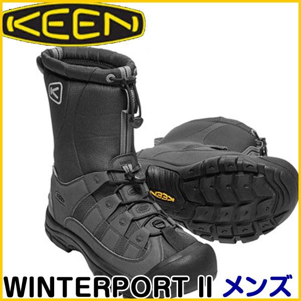 【処分セール】訳あり32%OFF!在庫限り!キーン(KEEN) WINTERPORT II メンズ BLACK/FROST GRAY 1017505