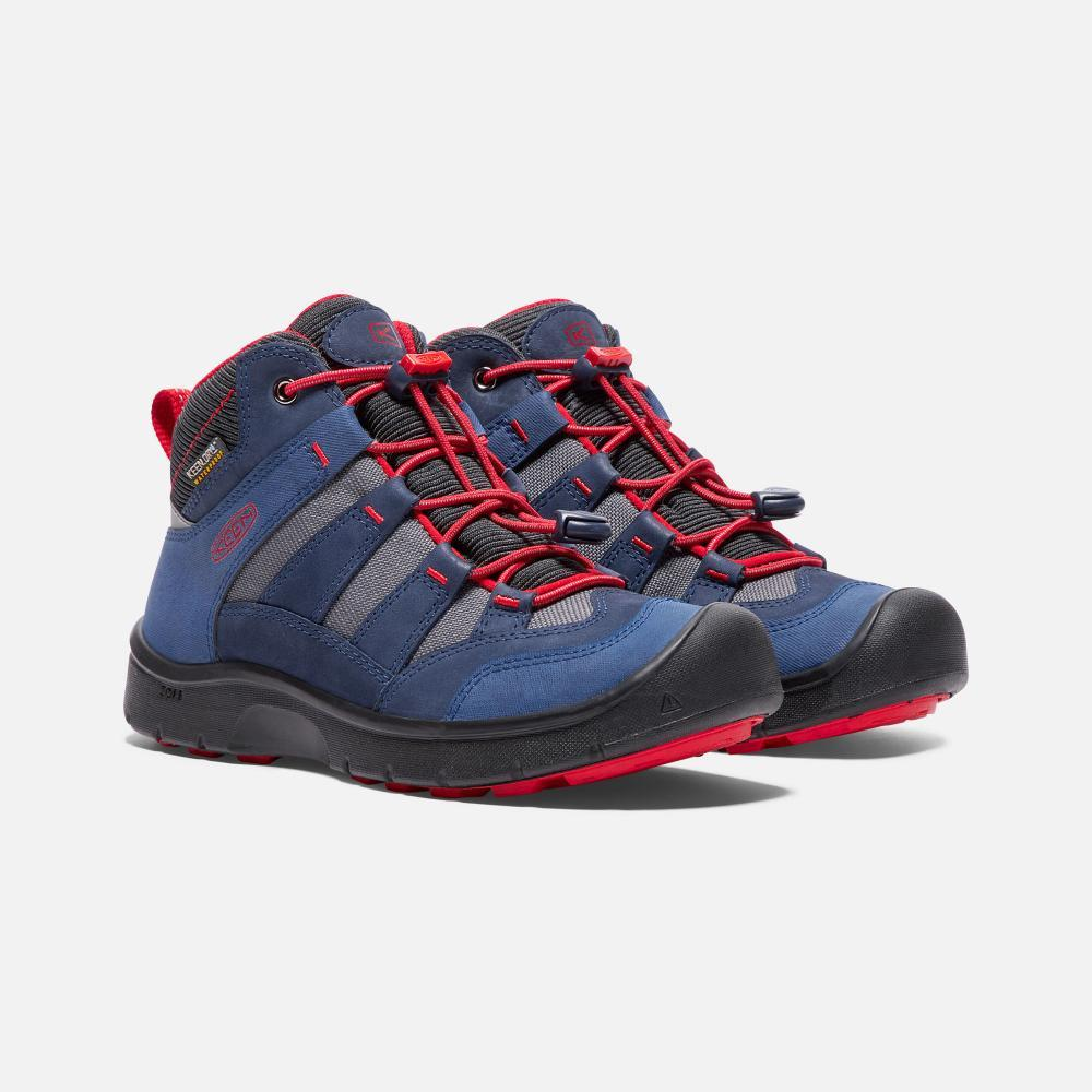 キーン(KEEN) HIKEPORT MID WP キッズ DRESS BLUES/FIREY RED 1018001