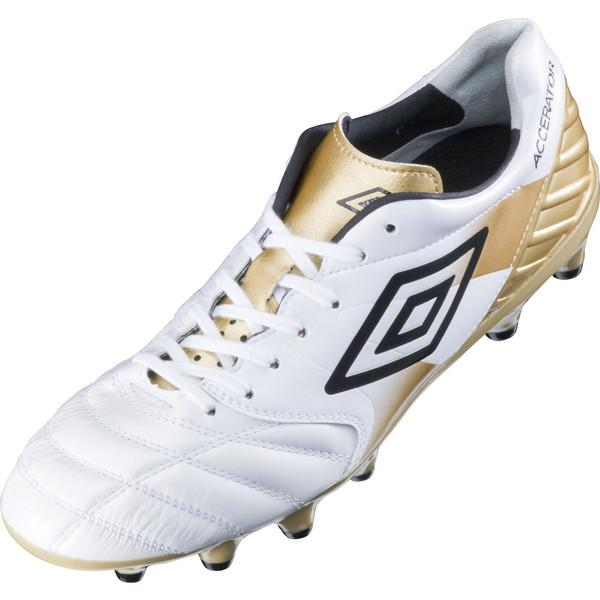 UMBRO(アンブロ) (メンズ サッカースパイク) アクセレイター KL ホワイト×ゴールド×ブラック サッカー スパイク UU2LJA03WH-F メンズ