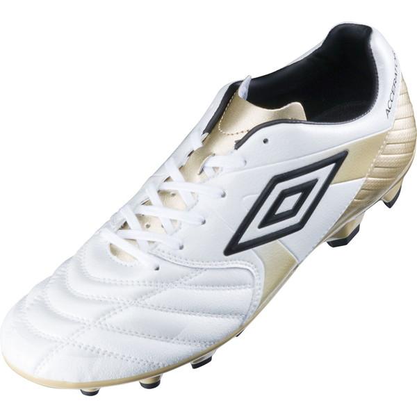 UMBRO(アンブロ) (メンズ サッカースパイク) アクセレイター KTS ホワイト×ゴールド×ブラック サッカー スパイク UU2LJA05WH-F メンズ