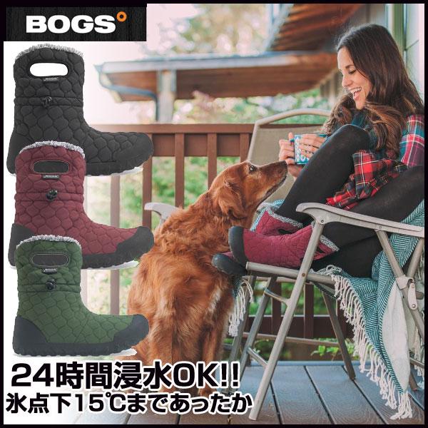 BOGS(ボグス) 防寒 防水ブーツ レディース キルトブーツ B-MOC QUILTED PUFF (RO) (レディース)(71952)