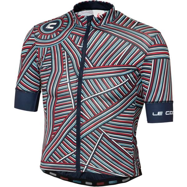 ルコック(le coq sportif) ラインアートSSジャージ サイクル トレーニングウェア QCMLGA42-NVY メンズ