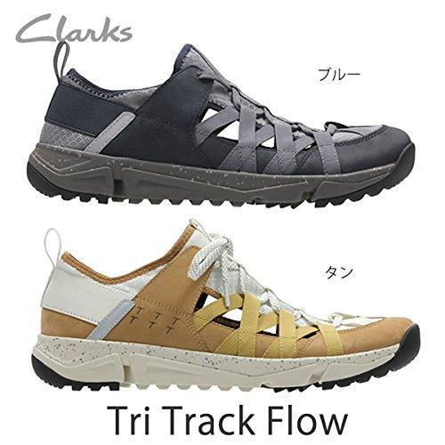 クラークス(Clarks) TriTrack Flow(Blue) レザースニーカー(メンズ) 26132271