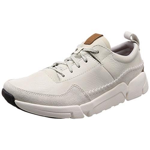 クラークス(Clarks) TriActive Run(White Leather) レザースニーカー(メンズ) 26132277