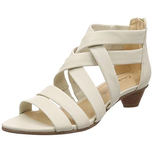 クラークス(Clarks) Mena Silk(White Leather) サンダル(レディース) 26132453