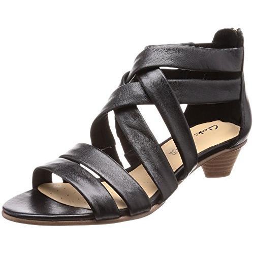 クラークス(Clarks) Mena Silk(Black Leather) サンダル(レディース) 26132455