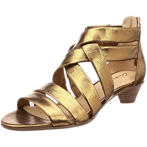 クラークス(Clarks) Mena Silk(Bronze Metallic) サンダル(レディース) 26132457