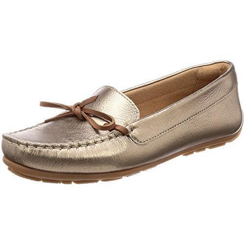 クラークス(Clarks) Dameo Swing(Pewter Metallic Leather) デッキシューズ (レディース) 26132901