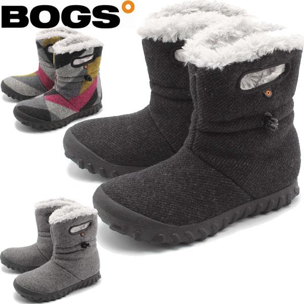 BOGS(ボグス) 防寒 防水ブーツ Bモック ウール B-MOC WOOL ショートブーツ レディース(RO)メンズ(72106)