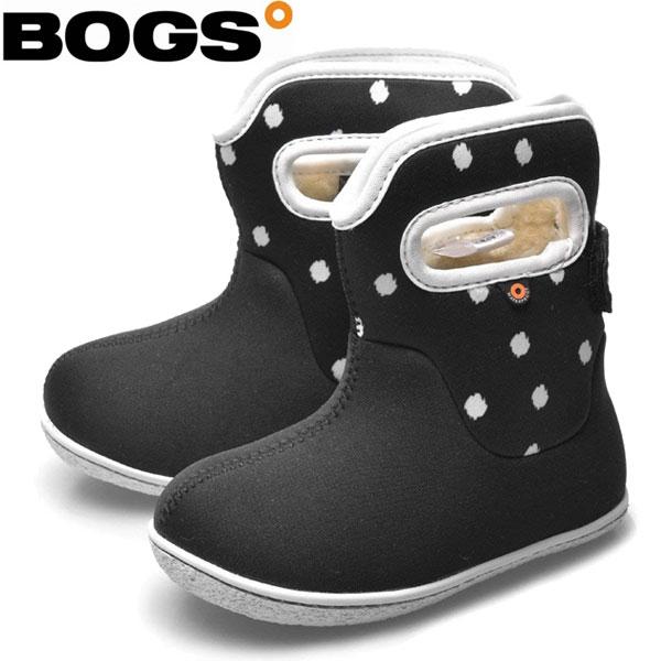 BOGS(ボグス) 防寒 防水ブーツ ベイビー ブーツ ドット 009 キッズ・ジュニア (RO)(78462S)