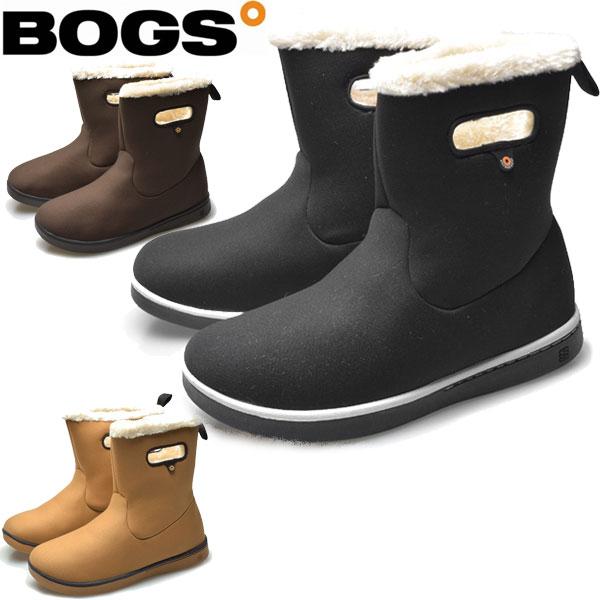 BOGS(ボグス) 防寒 防水ブーツ ウーマン ボガ ブーツ ソリッド ショートブーツ レディース(RO)(78538A)