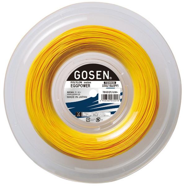 GOSEN(ゴーセン) エッグパワー17ロール イエロー テニス ガット TS1012Y