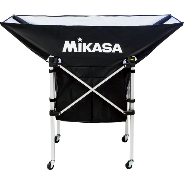 ◎ミカサ(MIKASA) 携帯用折り畳み式ボールカゴ(舟型) ブラック 学校器具 アクセサリー ACBC210BK