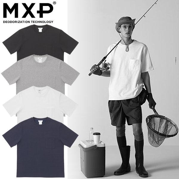 エムエックスピー(MXP)Tシャツ 半袖 ミディアムドライジャージ ビッグティーウィズポケット(メンズ) MX38302