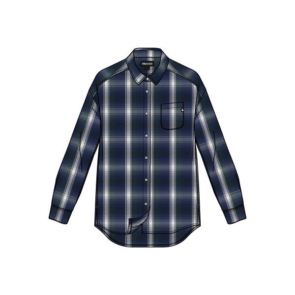 マーモット(Marmot) Ws Wool Check L/S Shirt レディース TOWMJB77-NV シャツ