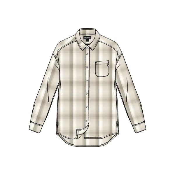 マーモット(Marmot) Ws Wool Check L/S Shirt レディース TOWMJB77-WH シャツ