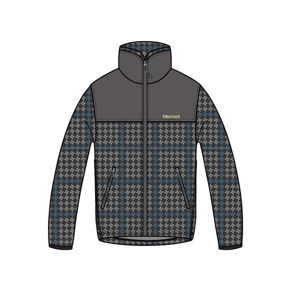 マーモット(Marmot) Ws Check Fleece Jacket レディース TOWMJL44-GY フリースジャケット