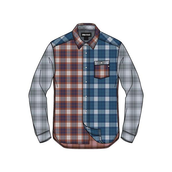 マーモット(Marmot) Tartan Check Dry L/S Shirt メンズ TOMMJB75-ML シャツ