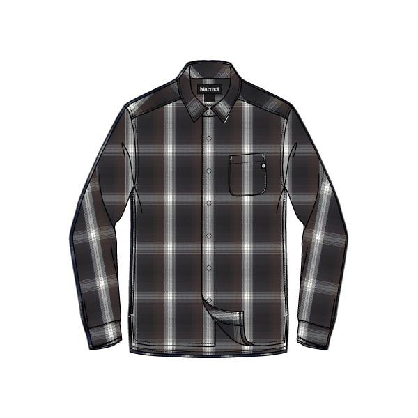 マーモット(Marmot) Wool Check L/S Shirt メンズ TOMMJB77-BK シャツ