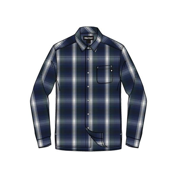 【予約】 マーモット(Marmot) メンズ Wool Check L シャツ/S Shirt メンズ Wool TOMMJB77-NV シャツ, コウナンク:16f88930 --- canoncity.azurewebsites.net