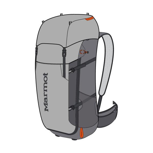 マーモット(Marmot) Graviton 48 ユニセックス M7B-S2415A-1414 リュック・バックパック