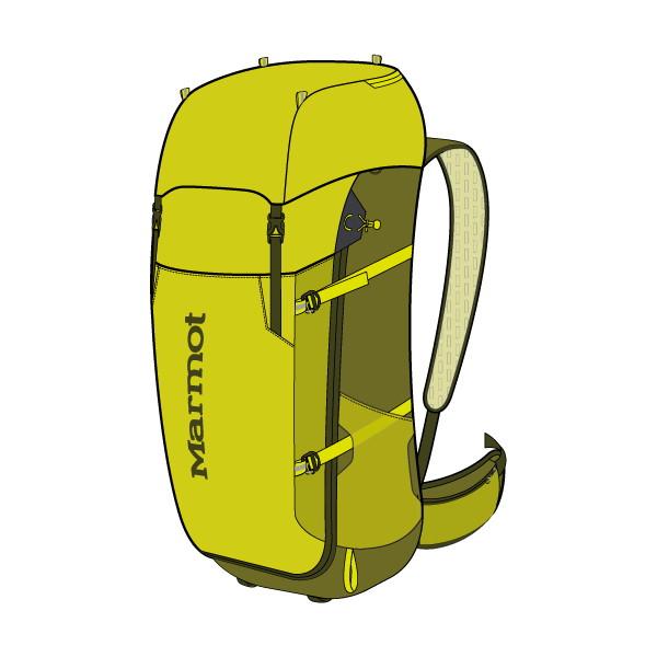 マーモット(Marmot) Graviton 38 ユニセックス M7B-S2469A-4635 リュック・バックパック