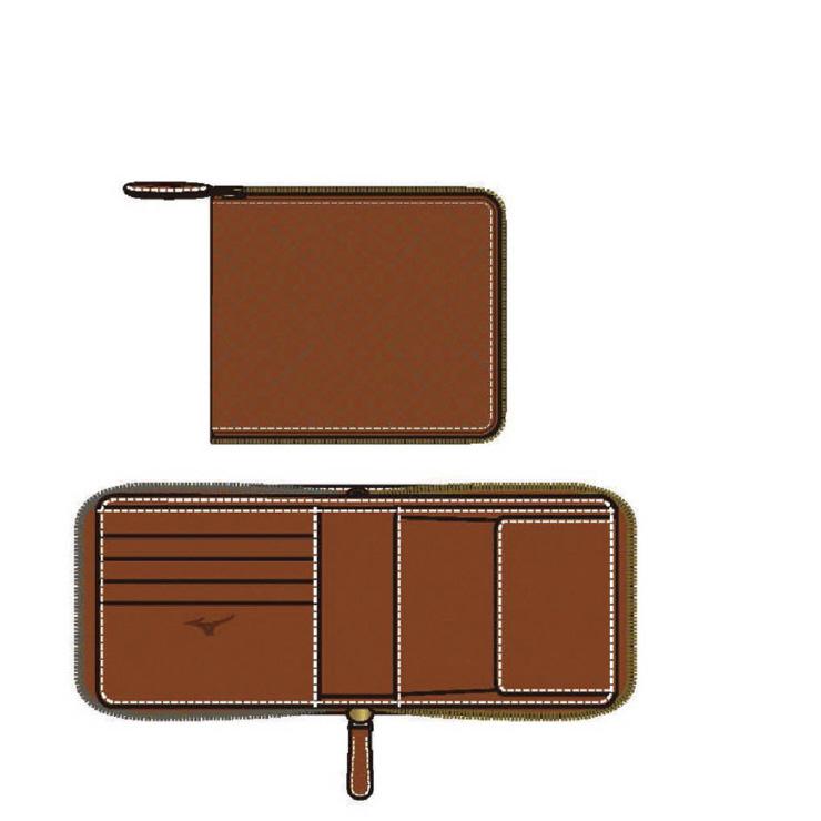 MIZUNO(ミズノ) ファスナー付二つ折り財布(型押し) 野球 アクセサリー ユニセックス 男女兼用 1GJYG0130031