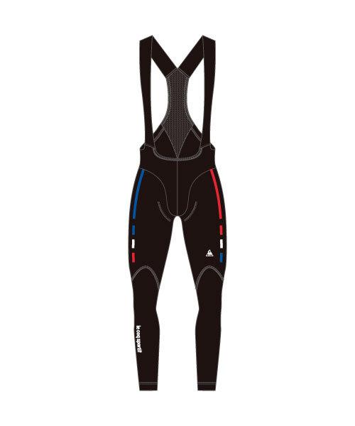 ルコック(le coq sportif) 起毛ビブロングパンツ Thermo Bib Long Pants メンズ QCMMGD62-BLK