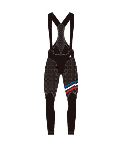 ルコック(le coq sportif) ボンディングビブロングパンツ Bonding Bib Long Pants メンズ QCMMGD64-BLK
