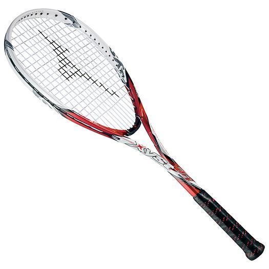 大特価!MIZUNO ミズノ ソフトテニスラケット【フレームのみ】 ジスト T1 62:レッド/ホワイト(63jtn52162)
