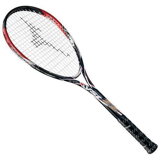 大特価!MIZUNO ミズノ ソフトテニスラケット【フレームのみ】 ジスト ZZ ブラック/レッド(63jtn60262)