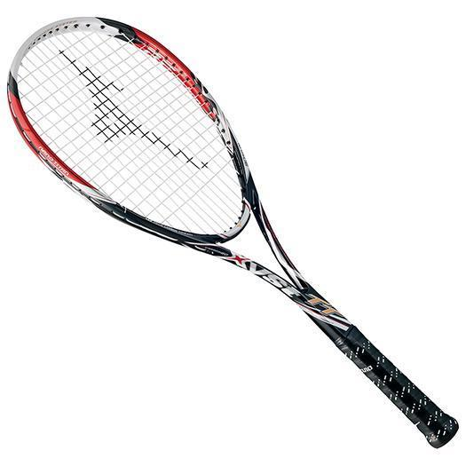 大特価!MIZUNO ミズノ ソフトテニスラケット【フレームのみ】 ジスト TT ブラック/レッド(63jtn62262)
