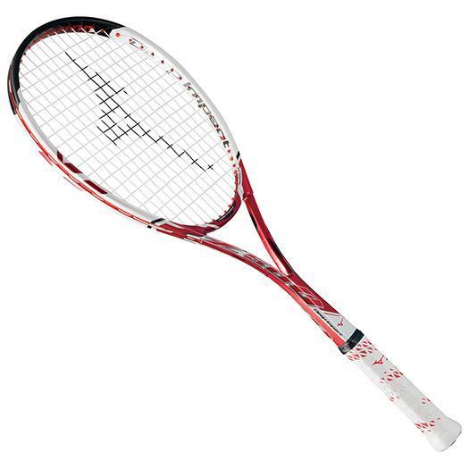 【※返品交換不可】大特価!MIZUNO ミズノ ソフトテニスラケット【フレームのみ】 ディープインパクト Z-500 ルビーレッド(63jtn67062)
