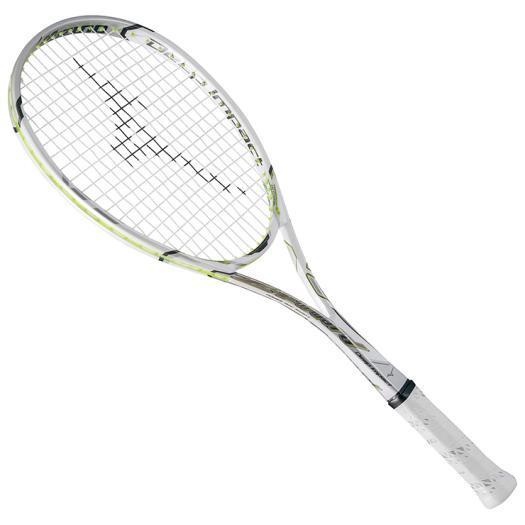 大特価!MIZUNO ミズノ ソフトテニスラケット【フレームのみ】 ディープインパクト Zフォワード ホワイト(63jtn68001)