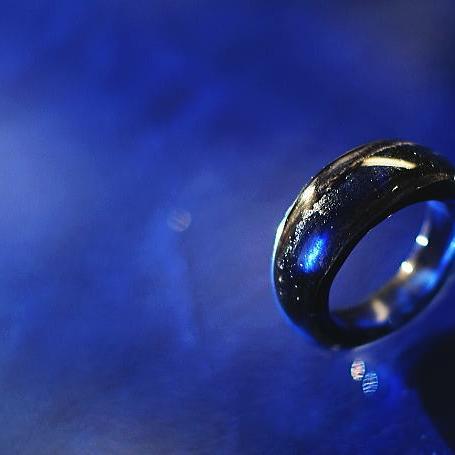 『真夜中のMilky Way』 ガラスアクセサリー リング・指輪 ノーマルタイプ