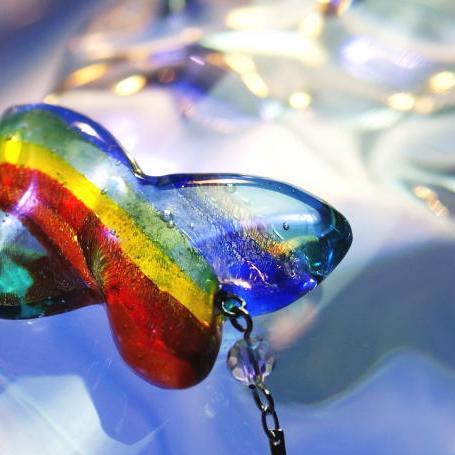 『虹を越えて』 ガラスアクセサリー ブレスレット・アンクレット