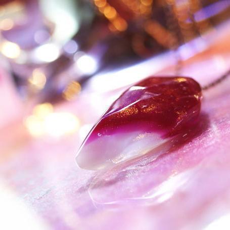 『Rose fang ~ Love ~』 ガラスアクセサリー ネックレス・ペンダント 立体造形タイプ