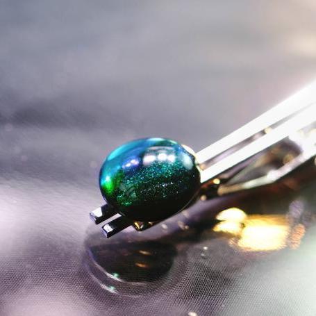 『湖沼の滴』 ガラスアクセサリー ネクタイピン・カフス